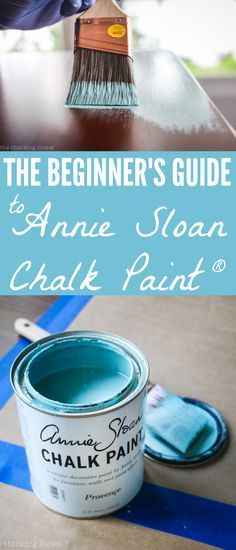 The Beginner's Guide to Using Annie Sloan Chalk Paint & Wax: One Beginner's Tips to Another! | I let my intimidation over using Annie Sloan Chalk Paint keep me from exploring the medium for way too long.  Now that I have finally given it a whirl, I'm eager to empower other beginners to give it a go.  It's SO much easier than you think it is!   Especially with this step by step run-down.
