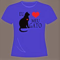 knupSilk - ESTAMPARIA/SERIGRAFIA: Eu Amo Meu Gato