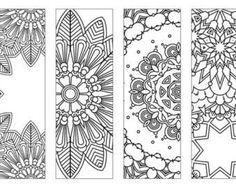Coloring Bookmarks 2 coloring pages coloring for by KrishandBoShop Free Printable Bookmarks, Bookmark Template, Diy Bookmarks, Bookmarks To Color, Mandala Coloring Pages, Coloring Book Pages, Coloring Sheets, Coloring For Kids, Free Coloring
