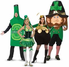#StPatricksDay2015 Clothes, Outfits & Costumes Ideas For Women, Girls, Men & Boys