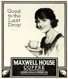 1921 Ad Maxwell Hous