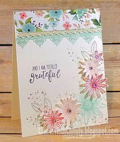 Here's another card that will be made at my upcoming Celebrate Spring Stamp Camp. This is the first card I've made with the Grateful Bunch Stamp Set & coordinating punch, Blossom Bunch Punch. I can fo