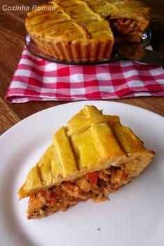 torta de pernil com vegetais