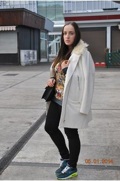 H&M Coats, Aliexpress Sweaters and Mango Bags Closet App, Mango Bags, New Year 2014, Outfit Maker, My Outfit, Air Max Sneakers, Nike Air Max, Cool Outfits, That Look