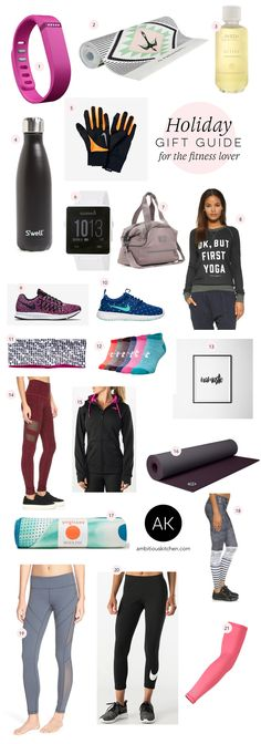 2015 Gift Guide For the Fitness Lover -- so many cute things!