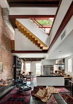 Red Hook, Brooklyn   Contemporary Architectural Home   Modern And Vintage Interior  Home Design   Like Brick Wall, White And Open   Not Accents