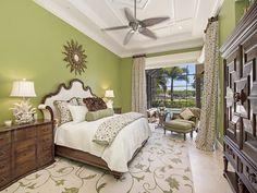 Green Master Bedroom Grey Oaks Naples Fl