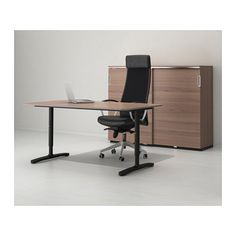 BEKANT Arbeidsbord - grå/svart - IKEA