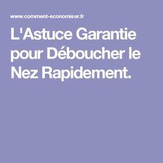 L'Astuce Garantie pour Déboucher le Nez Rapidement. Beauty, Beauty Illustration
