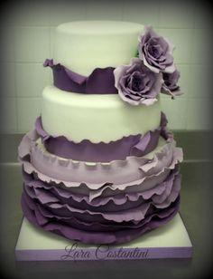 WEDDING CAKE LILAC - Cake by Lara Costantini