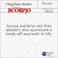 Daily astrology fact from The Daily Astro! Take a look at your horoscope for today, Scorpio.  Visit iFate.com today!