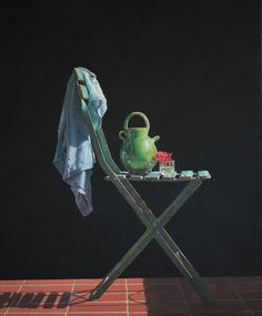 """Colin Fraser, """"Lightwell""""- 48x39.5, egg tempera on panel--at Principle Gallery"""
