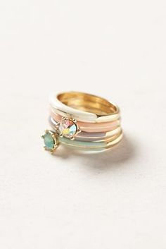 stacking rings - love