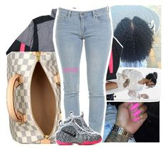 """""""more to come later."""" by lamamig ❤ liked on Polyvore featuring NIKE and Louis Vuitton"""