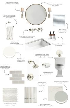 A Design Board For Pale Neutral Bathroom Perfect Timing Because Im Getting Ready To Renovate