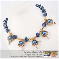 The Maria Theresa Collar (The Manek Lady) Tags: maneklady manekbeads swarovski collar necklace czech crescents firepolish bead craw praw pearl