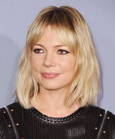 No Feathering, Please: The shag haircut works on different face shapes. This versatility is what makes it so popular. It's an edgy haircut --women want to feel refreshed and up with the new. I think its daring appeal catches their attention.  If you have a round face like Michelle Williams, one thing to keep in mind is that your shag haircut shouldn't be cut chin-length or shorter -- it should be kept longer to elongate your face, advises Salcedo.