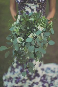 greenery wedding bouquets // via ruffledblog.com