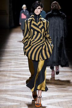 Dries Van Noten Fall 2014 Ready-to-Wear. The fabrics! The colours! The shapes and patterns! via Style.com