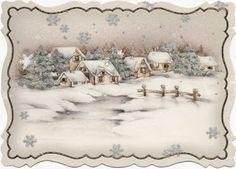 Pretty snow scene. Idea for quilt