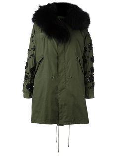 Night Market декорированное пальто с капюшоном