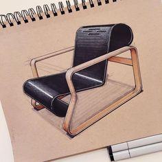 """""""Alvar Aalto's 1932 Paimio chair produced by Artek. #alvaraalto #paimio #artek #chair #furniture #furnituredesign #productdesign #industrialdesign…"""""""