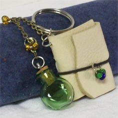 Potions and Spells Potion Bottle and Mini by DragonflybytheCreek, $20.00