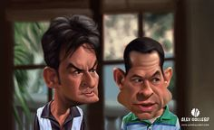 Movie and TV Caricatures by Alex Gallego, via Behance