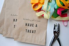 a pretty cool life.: party diy: printable treat bags