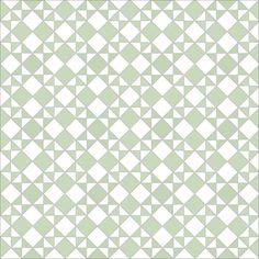 Star and Star design in pistache & white