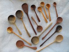 wooden spoons - black walnut, dogwood, & cherry