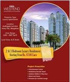 Purva Westend Bangalore 2 & 3 BHK Apartments