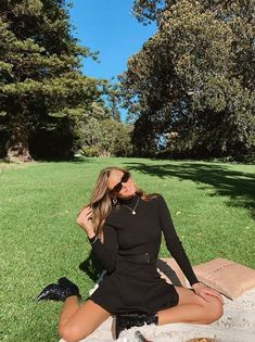 Darcy styles her Stephanie dress with sunglasses and boots for a chic cool-season look. Seasons, Sunglasses, Chic, Boots, Black, Dresses, Style, Fashion, Shabby Chic