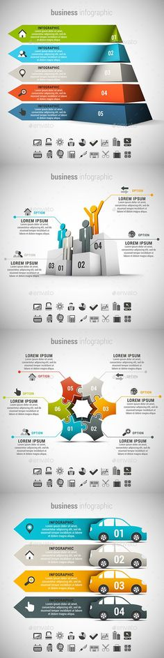 4 in 1  Infographics Bundle Template PSD, Vector EPS, AI. Download here: http://graphicriver.net/item/4-in-1-infographics-bundle/15085856?ref=ksioks