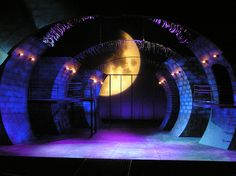 Urinetown scenic design by Beth Semler. Night/Sewer lighting.