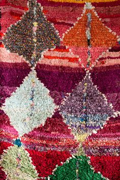 Vintage Moroccan Boucherouite Rug The Dries Rag by LoomAndField Deco Boheme, Textiles, Quelque Chose, Moroccan, Bohemian Rug, Chiffon, Quilts, Vintage, Rugs
