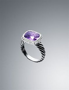 I have a few amethyst rings because it's my birthstone; HOWEVER, I REALLY like this one!!  :))  Amethyst ~ David Yurman