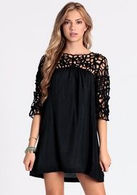 Coming Soon for Fall. A must have LBD. You can dress it up, wear with leggings or do a boho chic style with short distressed booties and funky jewels.  S,M,L  www.facebook.com/fleurteebee