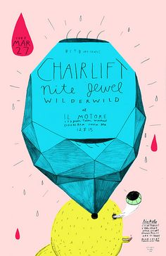 #houseofillustration | Chairlift Poster by Ohara.Hale, via Flickr