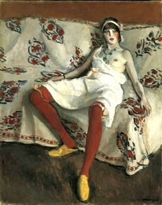 huariqueje: Les bas rouges ( The red stockings ) - Albert Marquet 1912 French 1875-1947