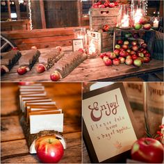 Rustic Country Apple Wedding Decorations