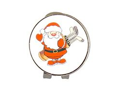 UK Golf Gear - Magnetic Hat Clip and Santa with Clubs Christmas Ball Marker by Mercia Golf.