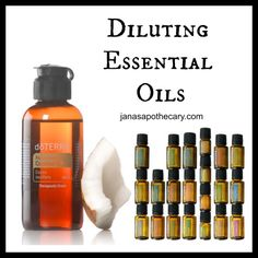 Diluting Essential Oils -  some basic tips and a link to a downloadable chart from AromaTools.
