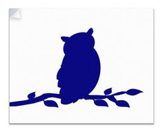 Owl on a Branch Children's Canvas Wall Peel