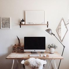 Workspace perfection regram from @kelli_murray in the US This workspace belongs to illustator designer Kelli in California We love the simplicity of her workspace...one raw wood desk one teeny tiny shelf one beautiful @maxwangerprintshop print Thanks Kelli for inspiring us with your simple beautiful #workspacegoals by workspacegoals
