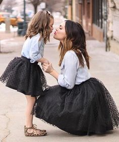 Our fun and whimsical Ella skirt is now being offered as a Mommy and Me set! Match with your little one in these this adorable polka dot skirts. Available color #mother_daughter_fashion