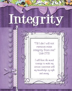 Mid-Week Activities centered around....Integrity
