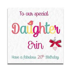 Handmade Personalised Daughter Granddaughter Sister 9th 16th 18th Birthday Card