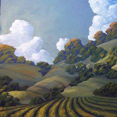 Hawkins Impressionist Art Oil Landscape California by ARTpaco Impressionist Landscape, Landscape Art, Landscape Paintings, Landscapes, Art And Illustration, Illustrations, Wine Art, Art Oil, Painting Inspiration