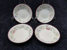 Johnson Brothers Summer Chintz Berry Dessert Bowl Set of FOUR 4 Excellent!